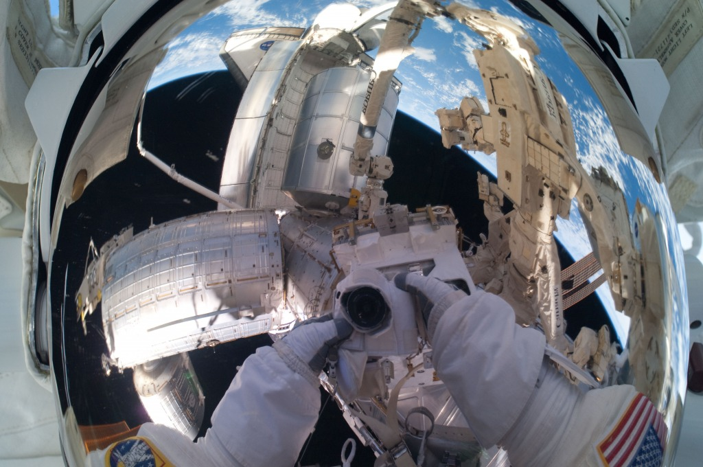 Astronaut Mike Fossum's Self-portrait