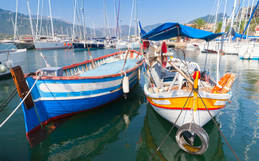 Fishing Boats in Propriano Town, Corsic