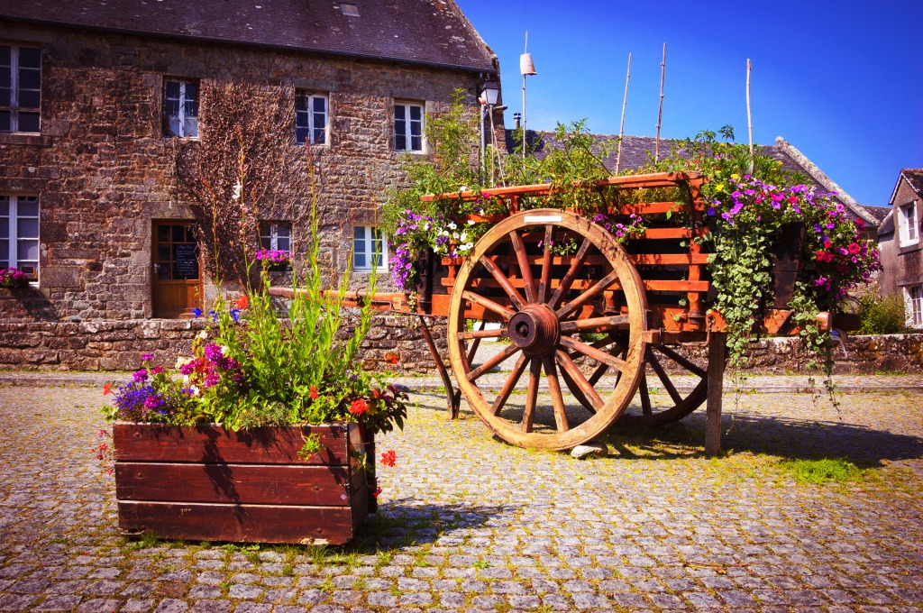 Flower Cart, Brittany, Franc