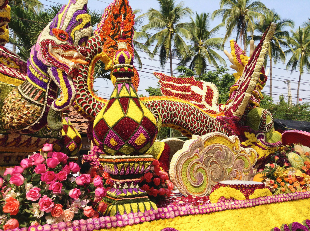 Flower Festival in Chiang Mai, Thailand