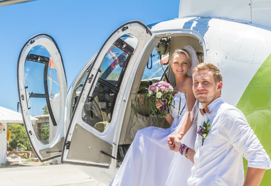 Helicopter Ride for the Newlywed