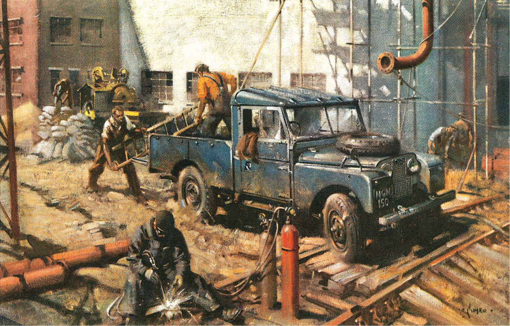 Land Rover Advertising Postcard