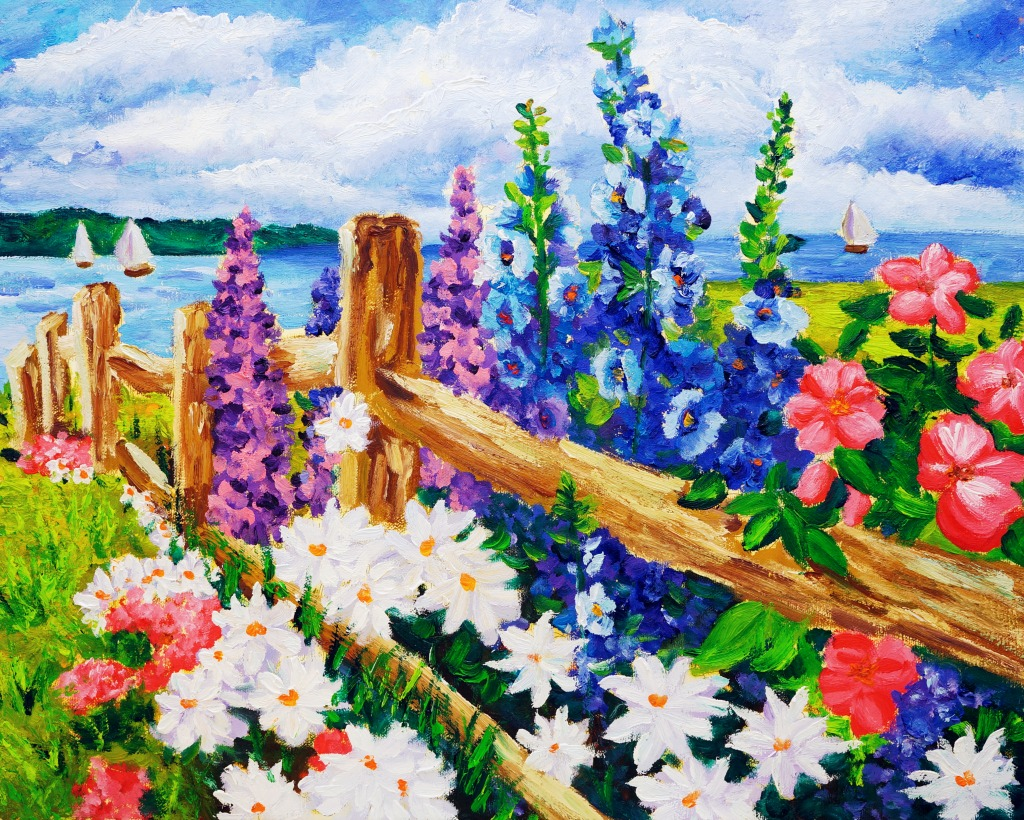 Landscape with Flower