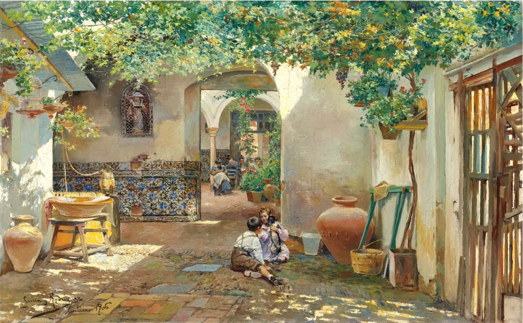Patio with Children