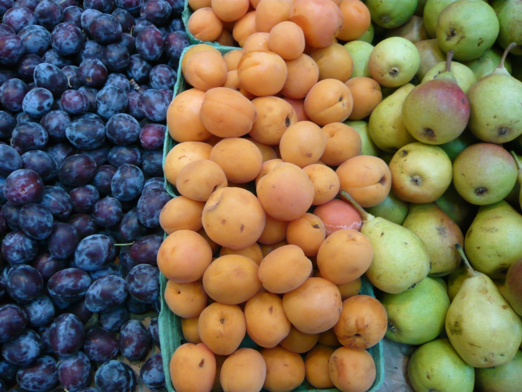 Plums, Apricots, Pear