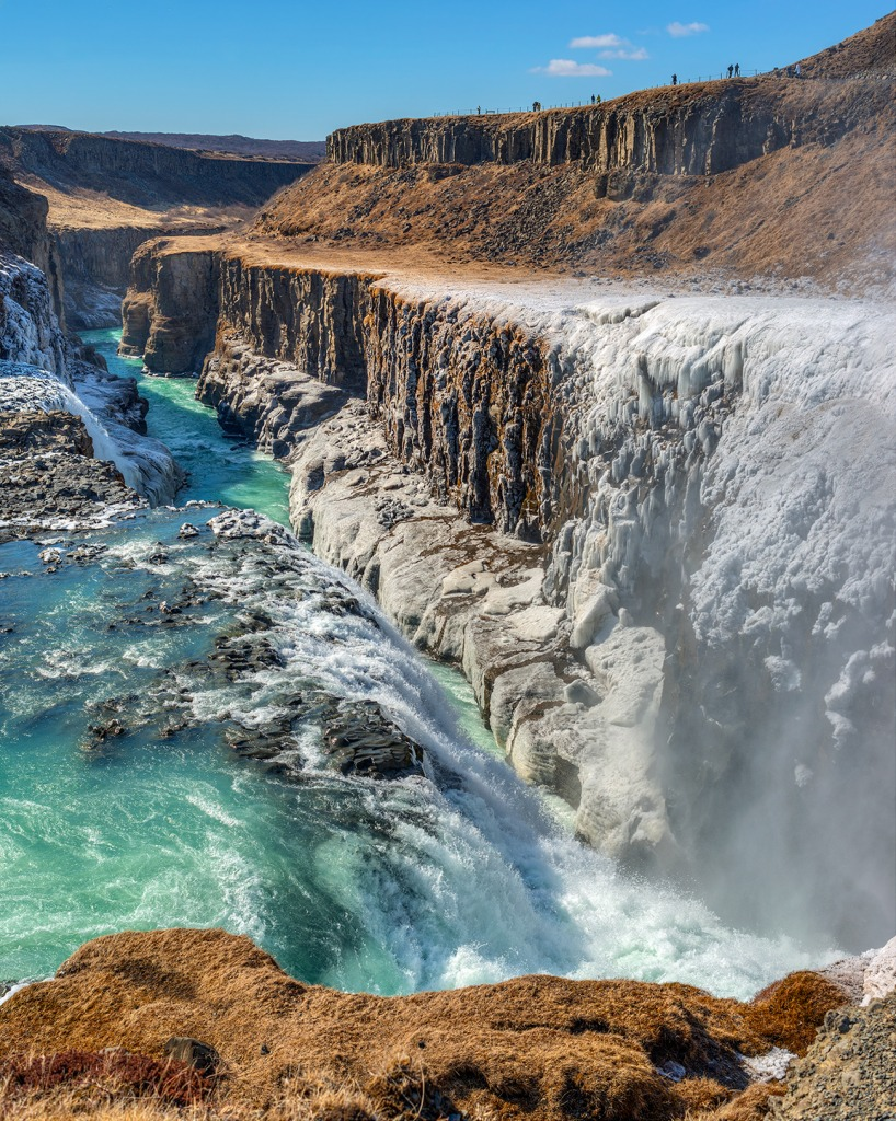 Raging Gullfoss Waterfall, Iceland