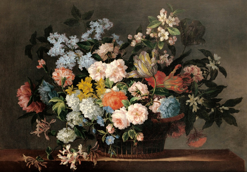 Still Life with Basket of Flower