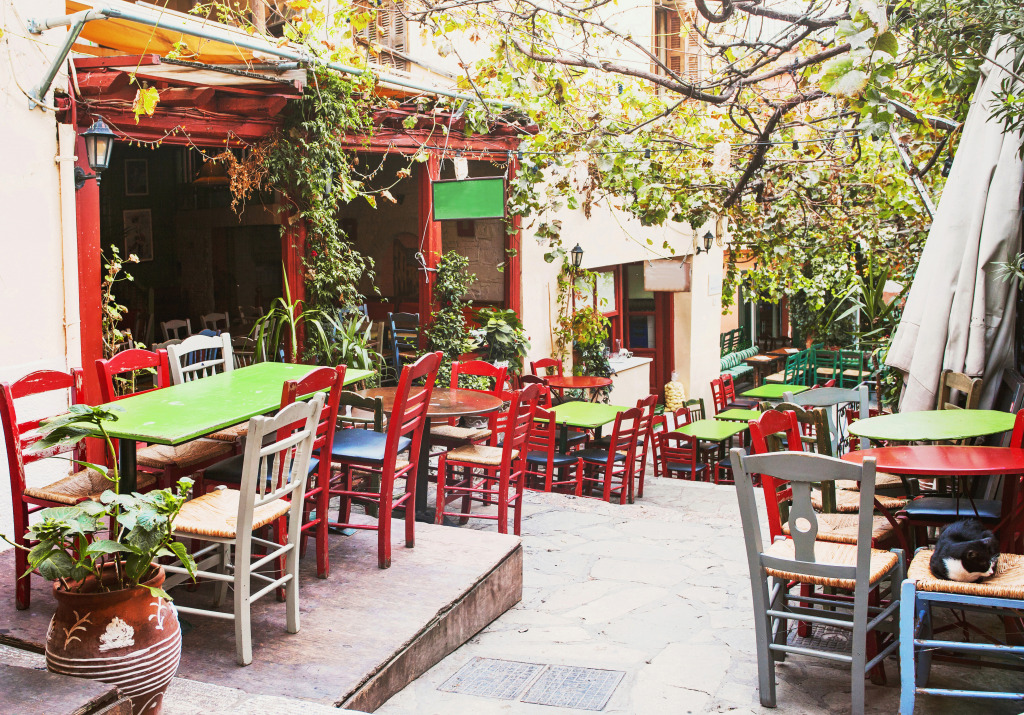 Street Cafe in Athens, Greec