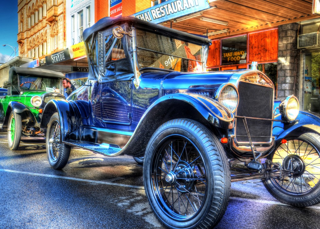 Vintage Car Display, Ballarat Town H