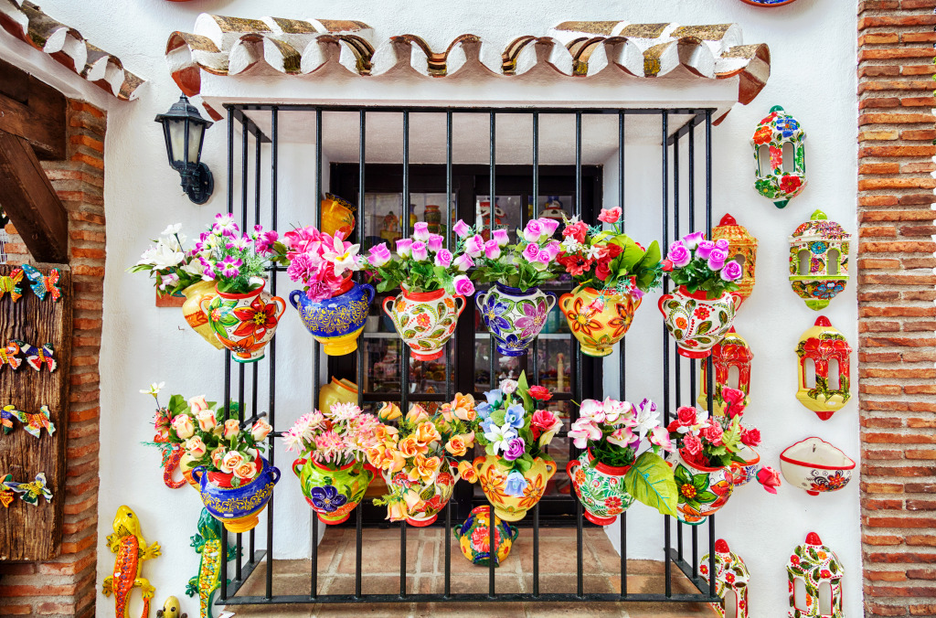 Window Decorated with Flower Pot